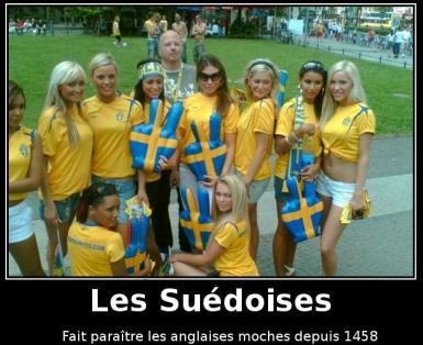 Un québécois,  un ontarien et une jolie suédoise