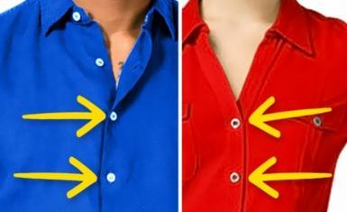 Pourquoi les boutons de chemise des hommes et des femmes sont-ils opposés?